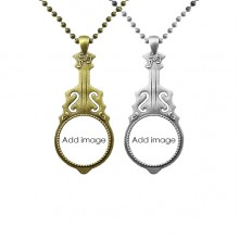 Music Guitar Pendant Jewelry Necklace Pendant Couple