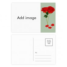 Rose Day Postcard Set Thanks Card Mailing Side 20pcs