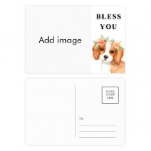 Blessing Dog Postcard Set Thanks Card Mailing Side 20pcs