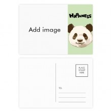 Happy Panda Postcard Set Thanks Card Mailing Side 20pcs