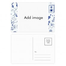 Music Postcard Set Thanks Card Mailing Side 20pcs