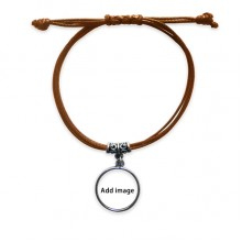 Bracelet Leather Hide Rope Wristband Brown Jewelry Gift