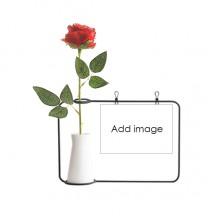 Artificial Rose Flower Hanging Vases Decoration Bottle
