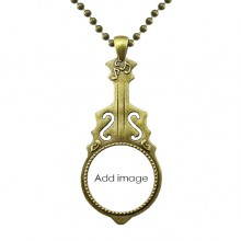 Necklace Antique Guitar Jewelry Music Pendant