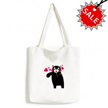 Kumamon Bear Cartoon Pattern High Quality Canvas Bag Environmentally Tote Large Gift Capacity Shopping Bags