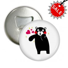 Kumamon Bear Pattern Round Bottle Opener Refrigerator Magnet Badge Button Gift