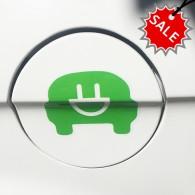Environment friendly electric car symbols sticker