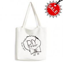 My DIY Store Bowknot High Quality Canvas Bag Environmentally Tote Large Gift Capacity Shopping Bags