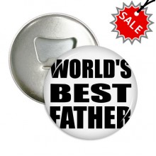 World's Best Father Festival Quote Round Bottle Opener Refrigerator Magnet Badge Button Gift