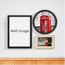 UK London Red Bus Art Wall Frame