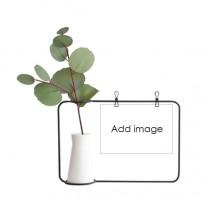 Metal Picture Frame Ceramic Vase Leaf Decor