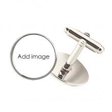 Round Button Cuff Clip Stud Cufflinks