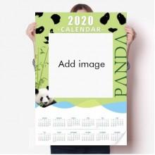 Calendar Panda Year Bamboo Poster Wallpaper China