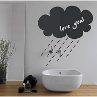Rainy Cloud Pattern Chalkboard Decal Sticker Home Decoration