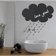 Rainy Cloud Pattern Chalkboard Decal Sticker Home Decoration