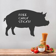 Fat Pig Pattern Chalkboard Decal Sticker Home Decoration