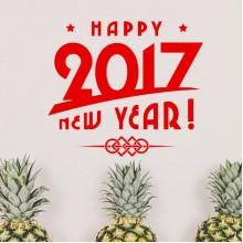 2017 Happy New Year Sticker