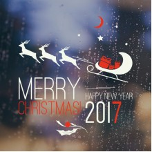 2017 Merry Christmas Happy New Year Sticker Removable Wall Sticker Art Decals Mural DIY Wallpaper for Room Decal