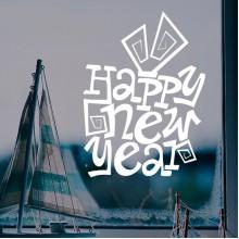 2017 Happy New Year Comic Style Sticker
