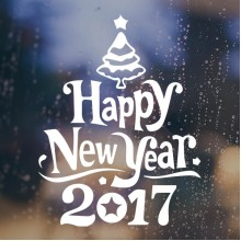 2017 Happy New Year Christmas Tree Sticker Removable Wall Sticker Art Decals Mural DIY Wallpaper for Room Decal