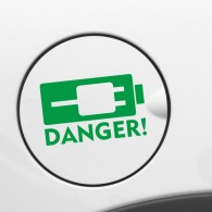 Electric Car Plug Symbol Sticker