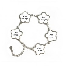 Bracelet Flower Shape Metal Cubic Chain Bangle
