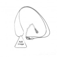 Triangle Shape Pendant Necklace Jewelry With Chain Decoration Gift