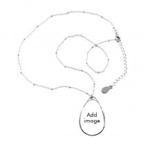 Teardrop Shape Pendant Necklace Jewelry With Chain Decoration Gift