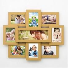 Group wooden photo frames