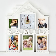 Family photo frame clock
