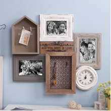 Group retro photo frame clock