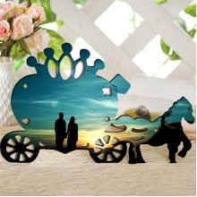 Pony wooden photo frame