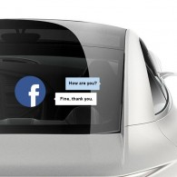 Facebook dialog box car sticker