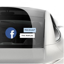 Facebook dialog box car sticker