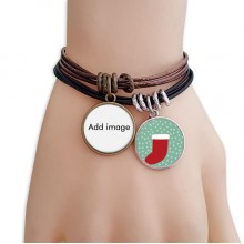 Christmas Stock Bracelet Leather Rope