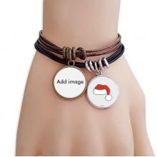 Christmas Hat Rope Bracelet Wrap Bangle