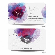 Watercolor business card (pack of 100)