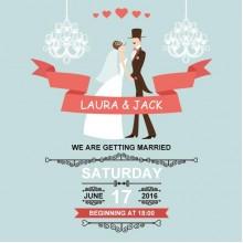 Romantic wedding poster