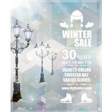 Winter snow poster
