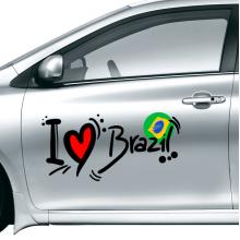 I love Brazil car sticker