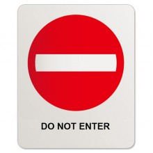 Do not enter sticker