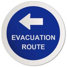 Evacuation route sticker