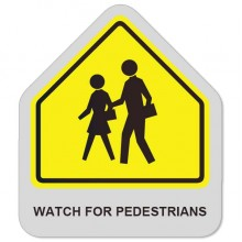 Watch for pedestrians sticker