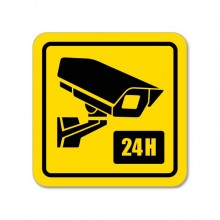 24-hour Monitoring Warning Decal Sticker