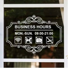 Display window sticker