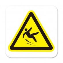 Caution Slippery / Watch Your Step Symbol Decor Sticker