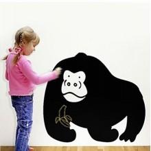 Cartoon Gorilla Chalkboard Decal Sticker Home Decoration