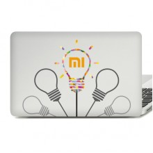 I Love MI Pattern Laptop Sticker