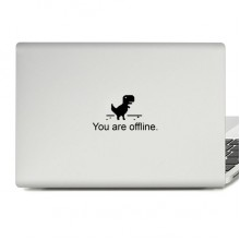 Dinosaur On Line Laptop Sticker