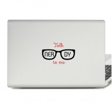 Talk to Me Laptop Sticker
